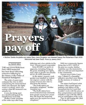 Prayers Pay Off